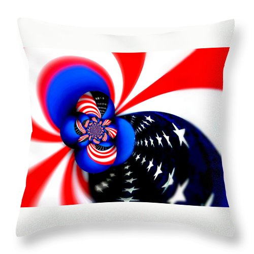 American Flag Throw Pillow featuring the photograph Seeds Of Freedom by Aurelio Zucco