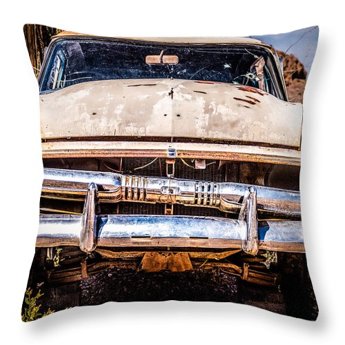 1953 Ford Antique Automobile Throw Pillow featuring the photograph Seen Better Days by Onyonet Photo Studios