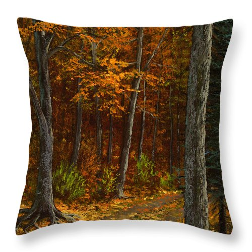 Landscape Throw Pillow featuring the painting Seldom Used by Frank Wilson