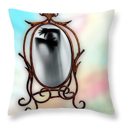 Self Throw Pillow featuring the digital art Self by Ben Yassa