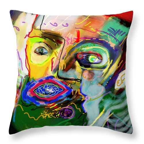 Torah Throw Pillow featuring the digital art This One Acquired Wisdom 15 by David Baruch Wolk
