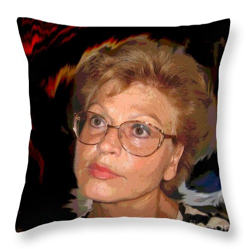 Self Portrait Throw Pillow featuring the photograph self portrait I by Dragica Micki Fortuna
