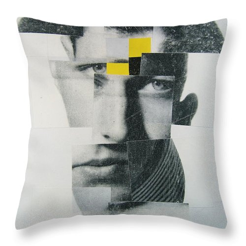 Abstract Portrait Throw Pillow featuring the painting When I Was Young I Was So Much Older Then - Im Younger Then That Now by Cliff Spohn