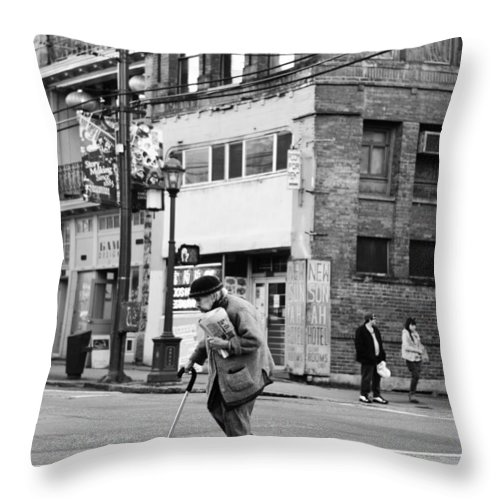 Vancouver Throw Pillow featuring the photograph Senior Steps by The Artist Project