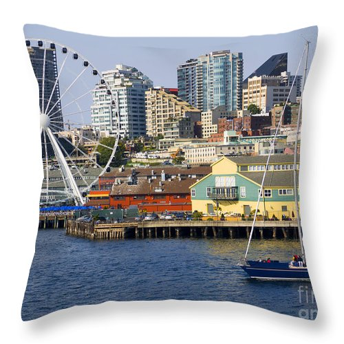 Seattle Throw Pillow featuring the photograph Sensational Seattle by Brenda Kean