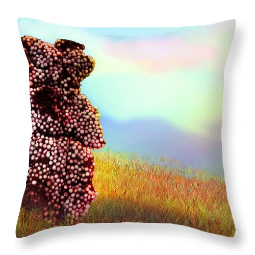 Guard Throw Pillow featuring the photograph Sentinel by Ginny Schmidt