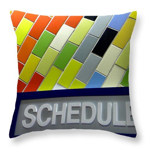 Philadelphia Throw Pillow featuring the photograph Septa Schedules by Richard Reeve