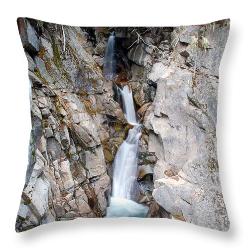 Waterfalls Throw Pillow featuring the photograph Sequence Falls by Breanna Calkins
