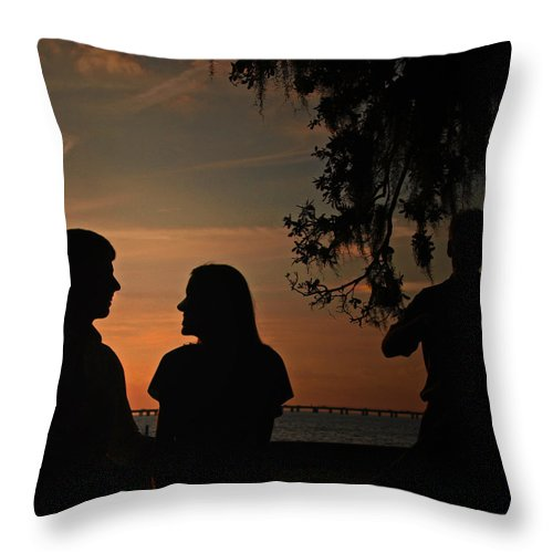 Throw Pillow featuring the photograph Serene Serenade by Tony Tribou
