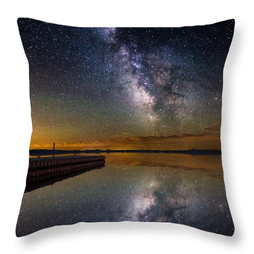Milkyway Throw Pillow featuring the photograph Serenity by Aaron J Groen