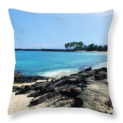Beach Throw Pillow featuring the photograph Serenity Cove by Caroline Lomeli