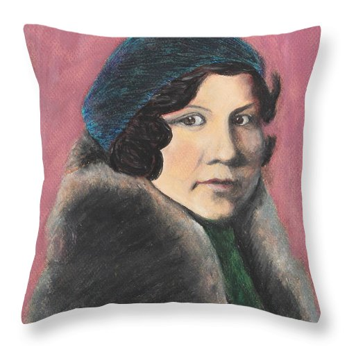 Style Throw Pillow featuring the painting Serenity by Jeanne Fischer
