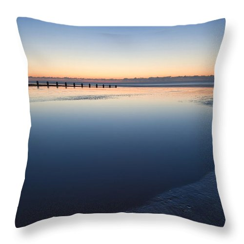 Beach Throw Pillow featuring the photograph Serenity by Matthew Gibson