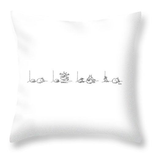 Animals Throw Pillow featuring the drawing Series by George Booth