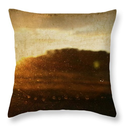 Wright Throw Pillow featuring the photograph Setting Sun Abstract by Paulette B Wright