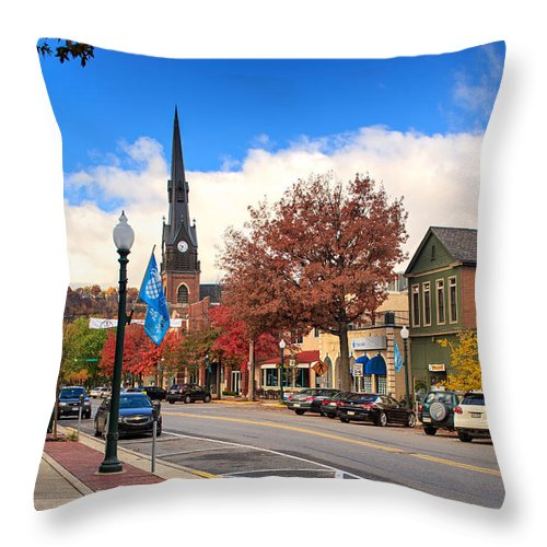 Sewickley Throw Pillow featuring the photograph Sewickley by Emmanuel Panagiotakis