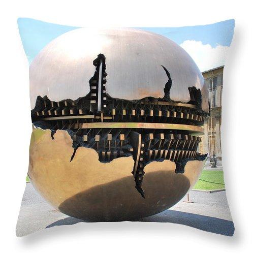 Sfera Con Sfera Throw Pillow featuring the photograph Sfera Con Sfera by Richard Booth