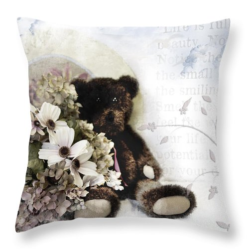 Antique Throw Pillow featuring the photograph Shabby One by Evie Carrier