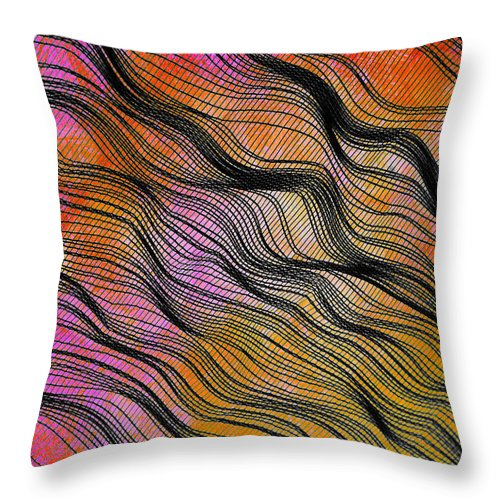 Abstract Throw Pillow featuring the photograph Shadecloth by Judi Bagwell