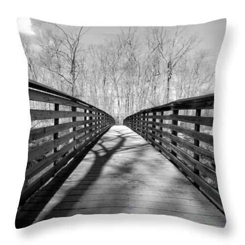 Tree Throw Pillow featuring the photograph Shades Of Nature by Art Dingo
