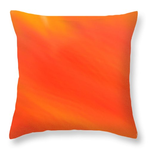 Abstract Throw Pillow featuring the photograph Shades Of Red by Susan Herber