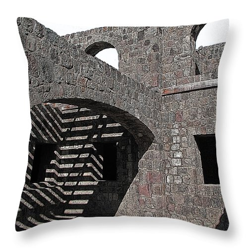 Stone Throw Pillow featuring the photograph Shadow Box by Ian MacDonald