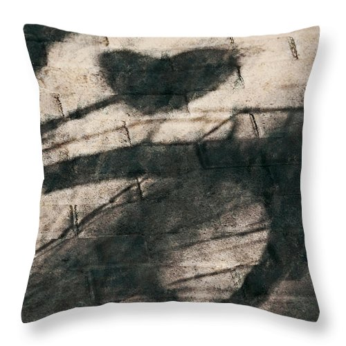 Bicycle Throw Pillow featuring the digital art Shadow Heart Chalk 1 Hp by David Lange