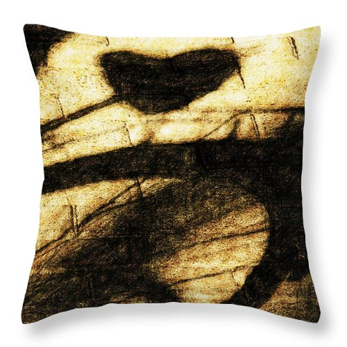Bicycle Throw Pillow featuring the digital art Shadow Heart Tinted Copper by David Lange