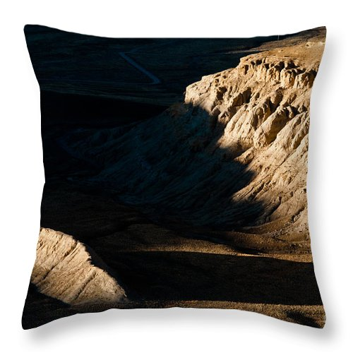 Western Throw Pillow featuring the photograph Shadow In Nature by Kim Pin Tan