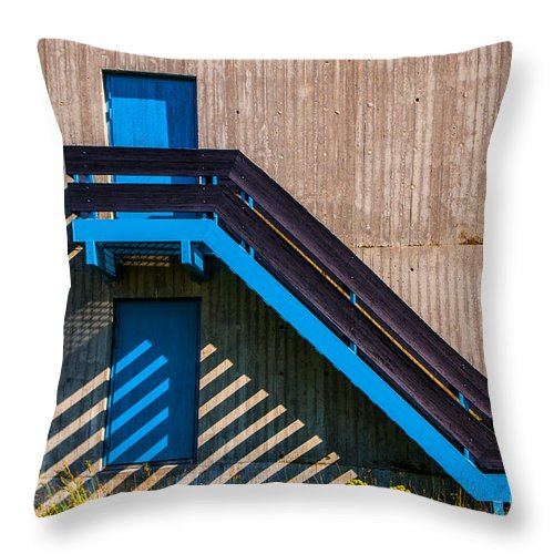 Stair Throw Pillow featuring the photograph Shadow Lines by Roberta Bragan