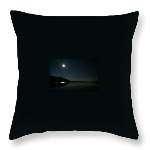 Full Moon Throw Pillow featuring the photograph Shadow Mountain Lake Full Moon by Jacqueline Russell