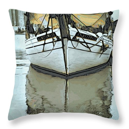 Boat Throw Pillow featuring the photograph Shadow Of Boat by Alice Gipson