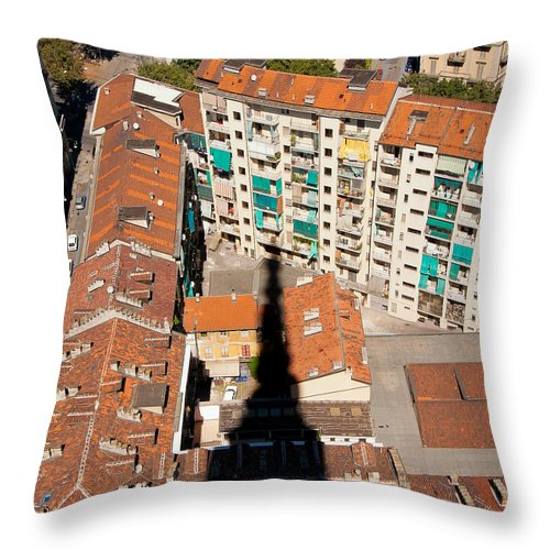 Mole Throw Pillow featuring the photograph Shadow Of The Mole by Jenny Setchell