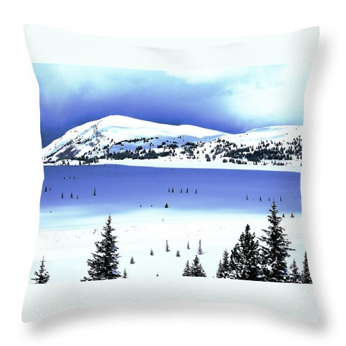 Colorado Throw Pillow featuring the photograph Shadows And Light by Eric Glaser