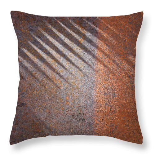 Rust Throw Pillow featuring the photograph Shadows And Rust by Carol Groenen
