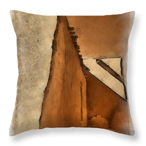 Santa Throw Pillow featuring the digital art Shadows In Aquarell  by Charles Muhle
