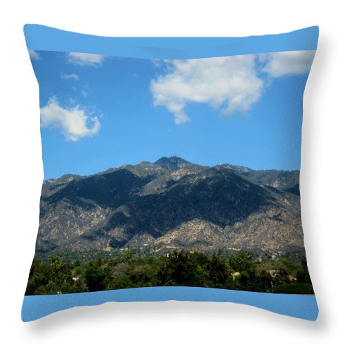 Landscape Throw Pillow featuring the photograph Shadows Of San Gabriel by Melissa McCrann