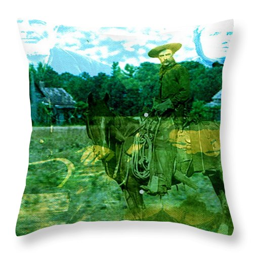 Shadow On The Land Throw Pillow featuring the digital art Shadows On The Land by Seth Weaver