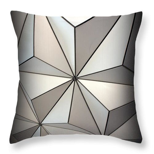 Shape Throw Pillow featuring the photograph Shapes In Steel by Laurie Perry