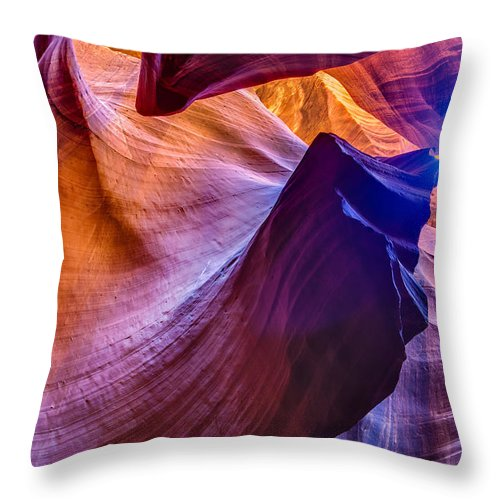 Blended Throw Pillow featuring the photograph Shapes In The Canyon by Rob Travis