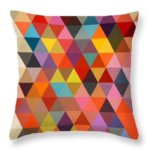 Contemporary Throw Pillow featuring the painting Shapes by Mark Ashkenazi