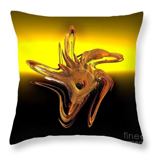 Digital Art Throw Pillow featuring the digital art Sharing The Sunset by Gail Matthews