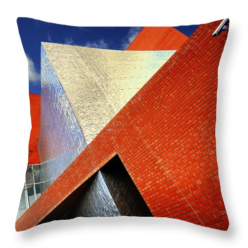 Architecture Throw Pillow featuring the photograph Sharps by Wayne Sherriff