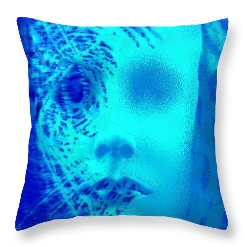 Shattered Doll Throw Pillow featuring the digital art Shattered Doll by Seth Weaver