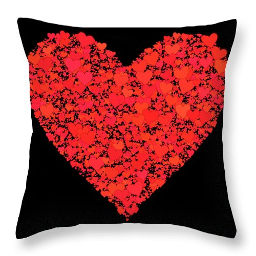 Valentine Throw Pillow featuring the digital art She Should Know How I Feel... by Tim Fillingim