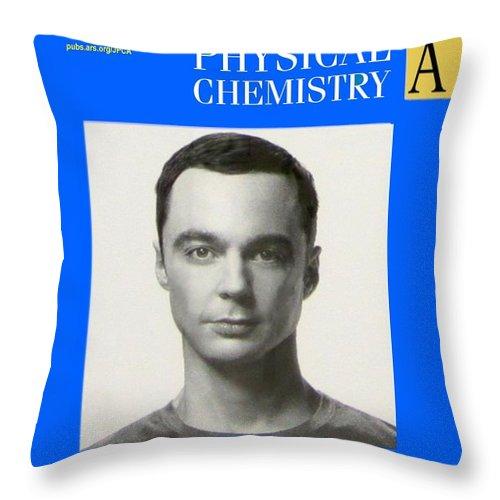 Sheldon Cooper Throw Pillow featuring the photograph Sheldon Cooper Magazine Cover by Paul Van Scott