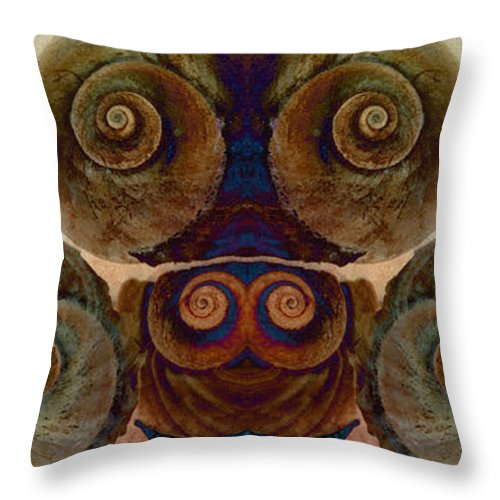 Throw Pillow featuring the photograph Shell Group 1 by WB Johnston
