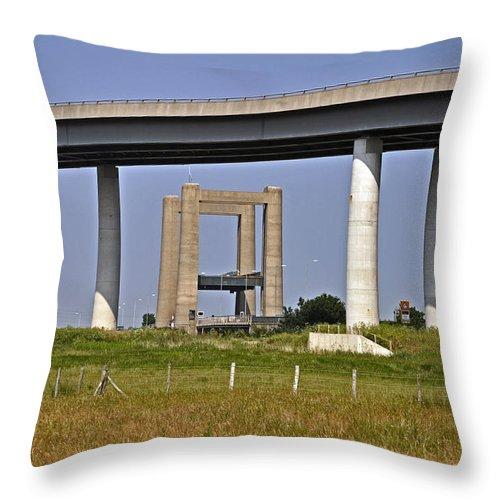 Landscape Throw Pillow featuring the photograph Sheppy Bridge by Robert Wain