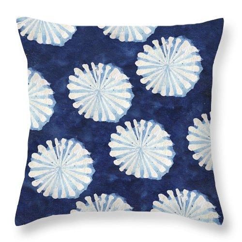 Shibori Throw Pillow featuring the digital art Shibori IIi by Elizabeth Medley