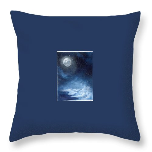 Cosmos Throw Pillow featuring the painting Shimmer by Murphy Elliott